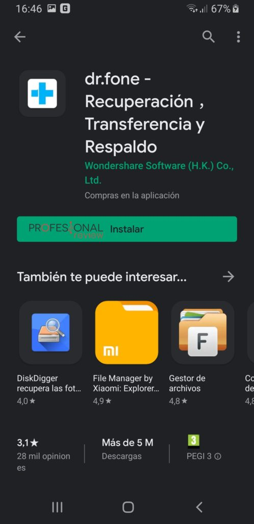 dr.fone play store