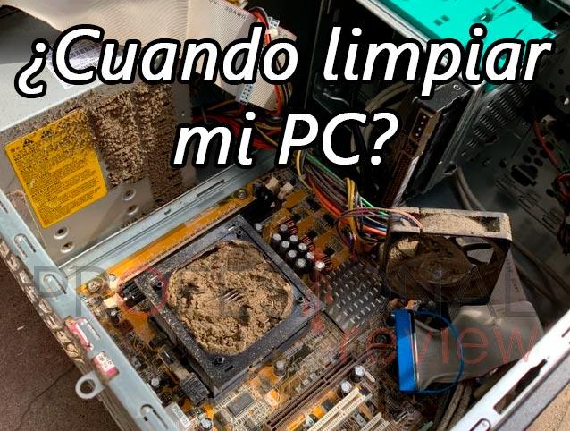 Cada cuánto tiempo hay que limpiar PC