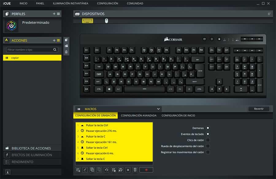 teclado y ratón corsair