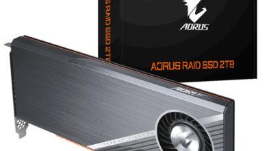 Photo of Aorus RAID SSD 2TB ofrece velocidades de lectura/escritura de +6.000 MB/s