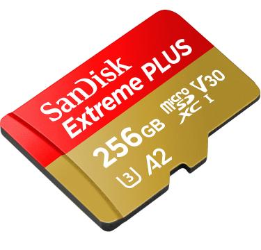 Sandisk Extreme plus 256 gb