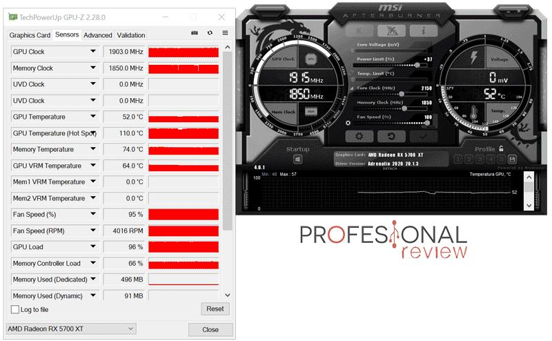 AORUS Radeon RX 5700 XT 8G Overclocking