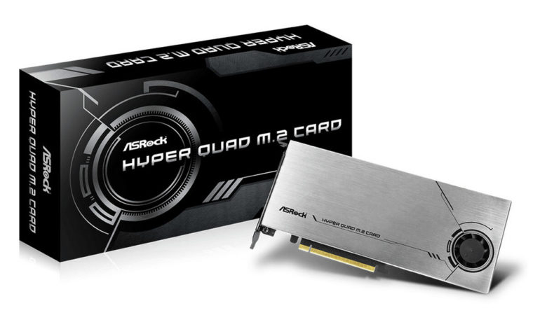 Photo of ASRock Hyper Quad M.2, tarjeta de expansión para 4 SSDs PCIe 4.0