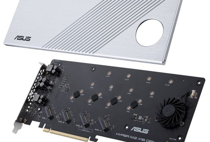 Photo of ASUS Hyper M.2 X16 Gen 4 lleva el almacenamiento SSD hasta el limite