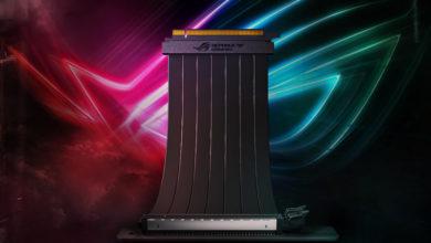 Photo of Asus ROG Strix Riser, Lanzan cable PCIe patentado con adaptador de 90°