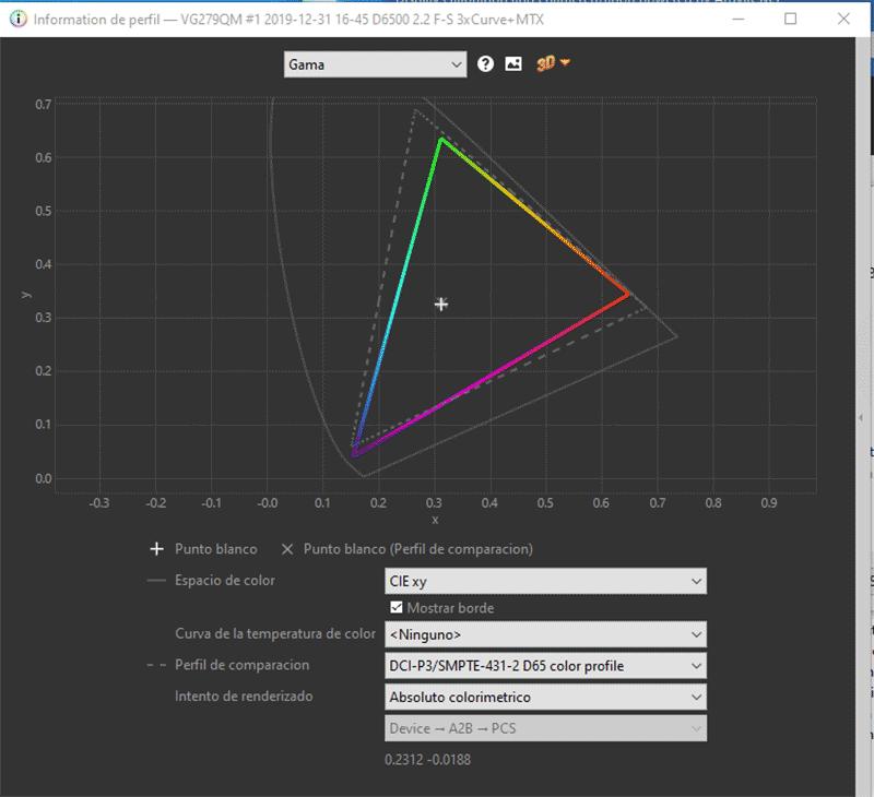 Asus TUF Gaming VG279QM Calibración