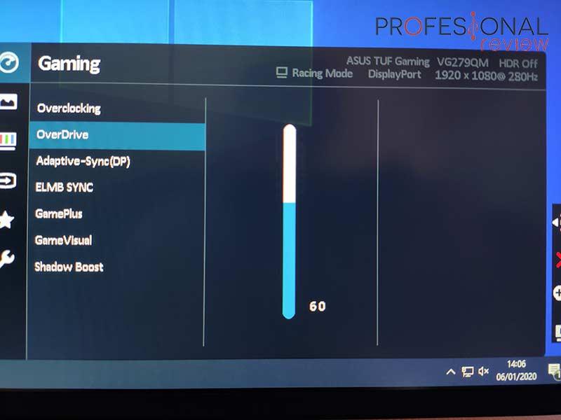 Asus TUF Gaming VG279QM Ghosting