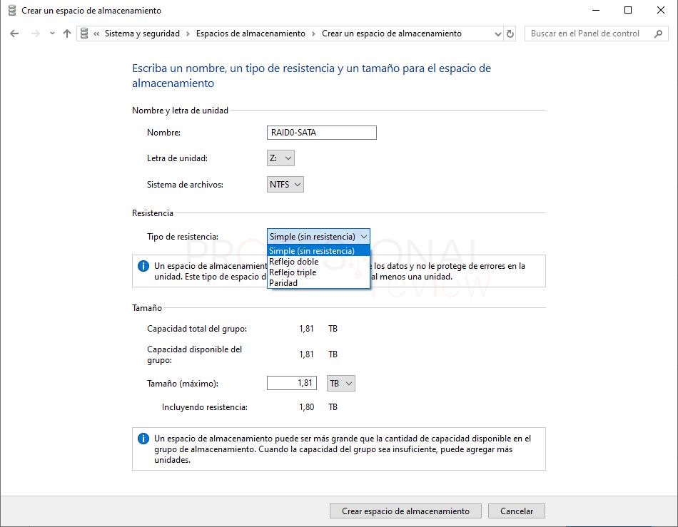 Configurar RAID en Windows 10 paso06