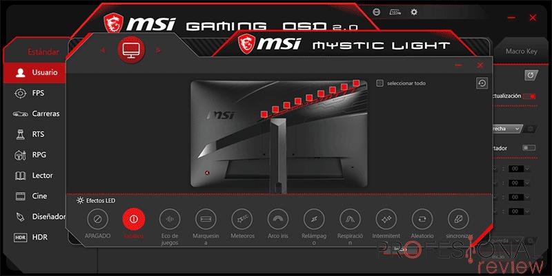 MSI Optix MAG272CQR Software