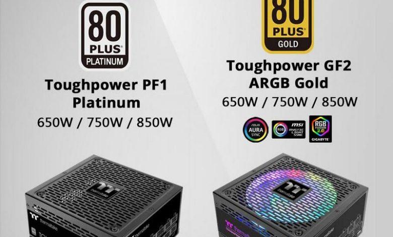 Photo of Thermaltake Toughpower PF1 Platinum y GF2 ARGB Gold anunciadas