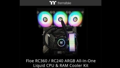 Photo of Thermaltake lanza Floe RC360 / RC240 ARGB y bloque para memorias DDR4