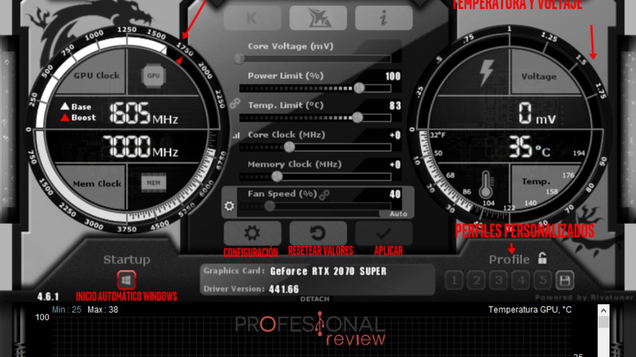 MSI Afterburner: Cómo mejorar la refrigeración de tu gráfica