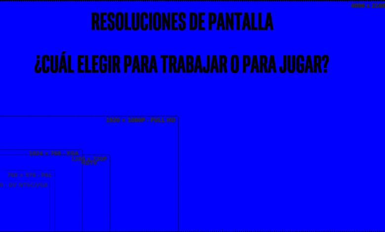 Photo of Resoluciones de pantalla: ¿Cual elegir para jugar o trabajar?