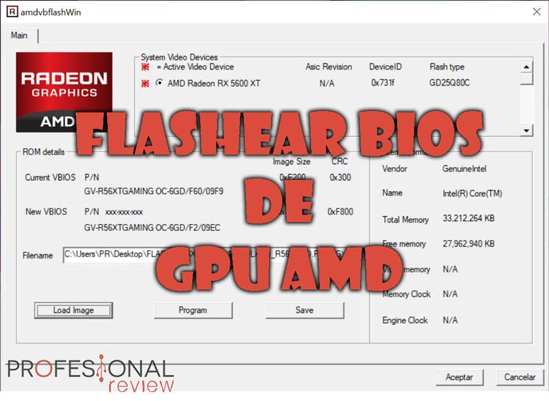Flashear BIOS de GPU AMD
