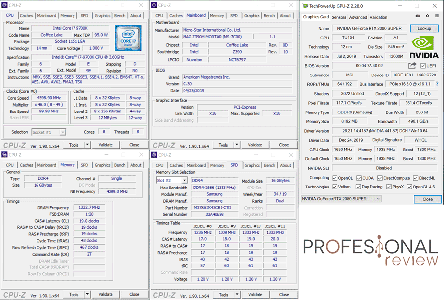 MSI Infinite X Plus 9TH GPU-Z
