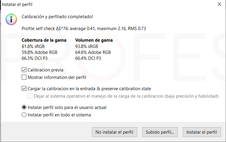 Asus ZenBook 15 UX534FTC Calibracion