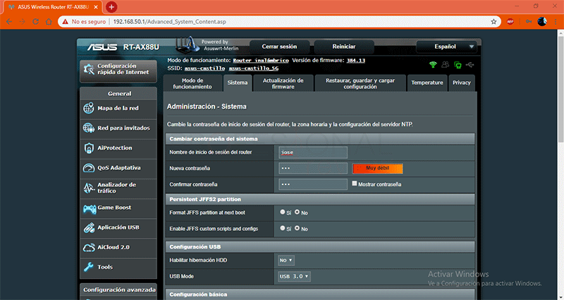 Cambiar contraseña del router paso11