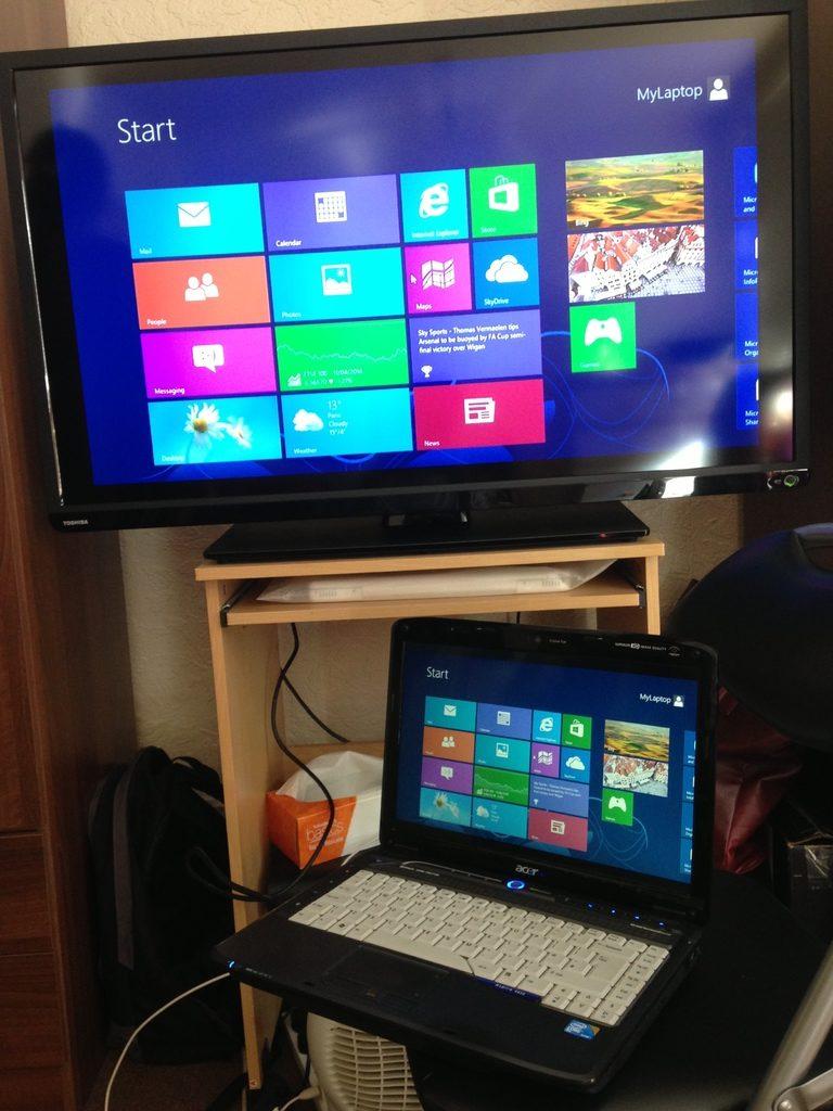 Conectar pantalla portátil