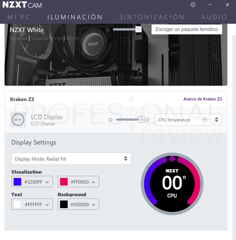 NZXT KRAKEN Z63 Software