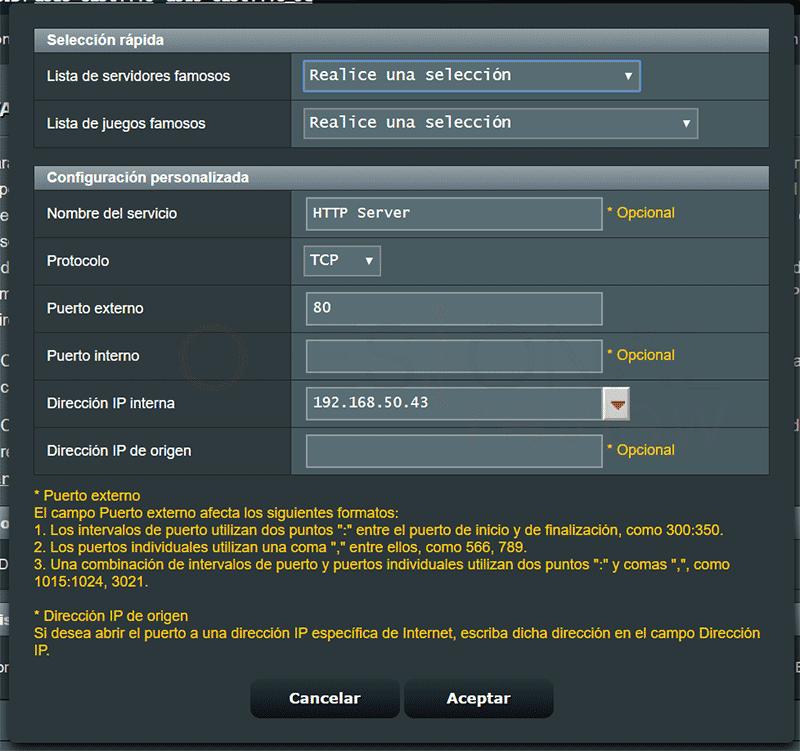 Abrir puertos del router paso09