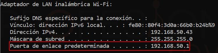 Acceder al router paso04