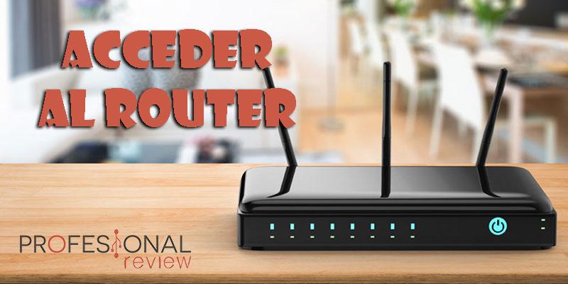Acceder al router