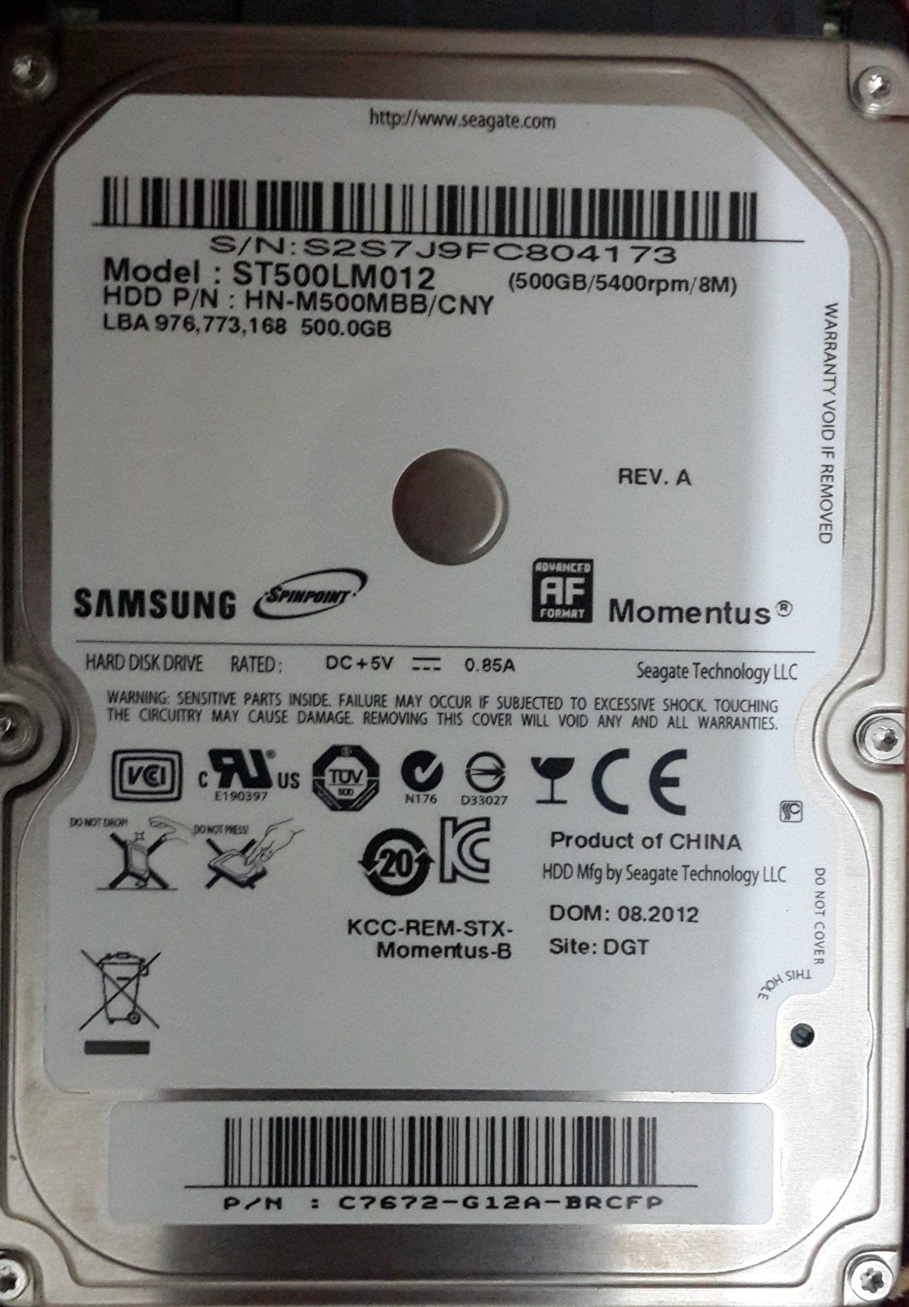 disco duro 5400 RPM