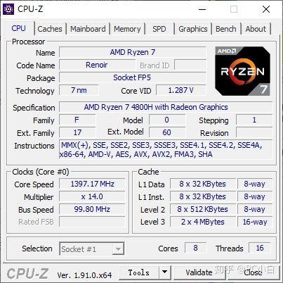 AMD Ryzen 7 4800H especificaciones