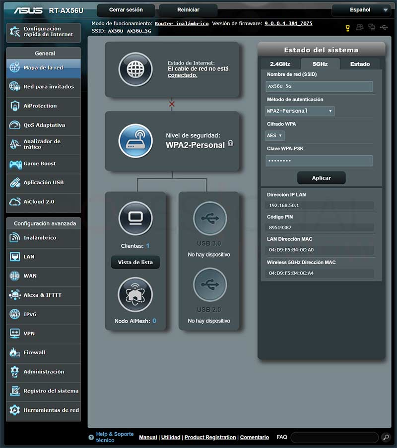 Asus RT-AX56U Firmware