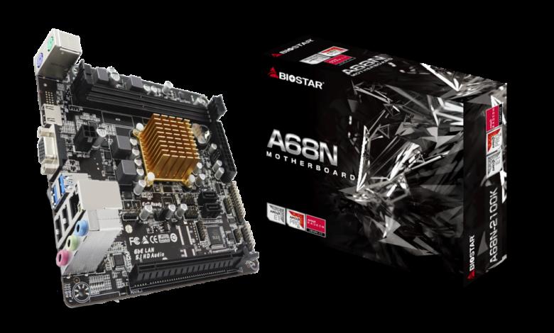 Photo of BIOSTAR anuncia A68N-2100K: AMD E1-6010 y DDR3 en Mini-ITX
