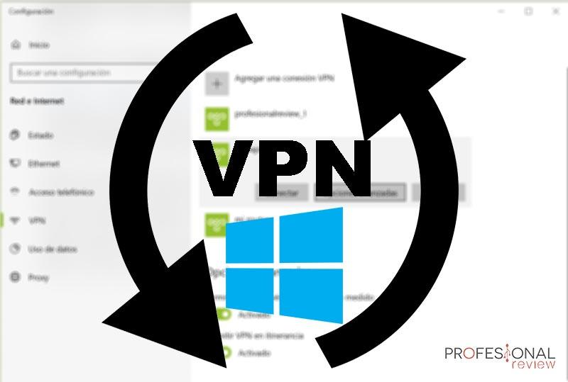 Cambiar VPN en Windows