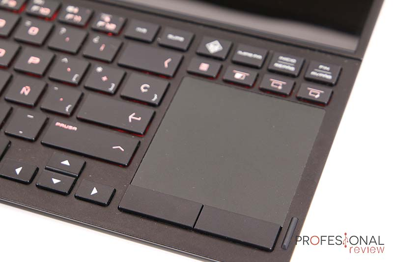 HP OMEN X 2S touchpad