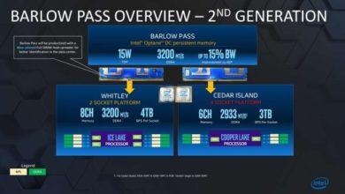 Photo of Intel 'Barlow Pass' soportarían hasta 3200MT/s DDR4