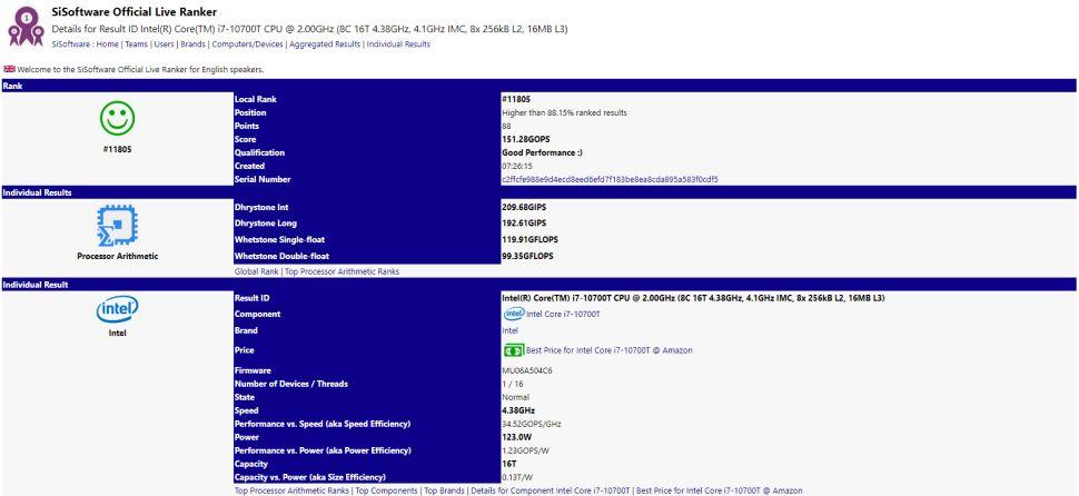 Intel Core i5-10500T e i7-10700T filtración-2