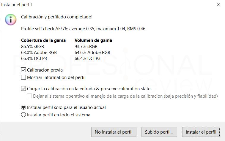 Lenovo Legion Y540 15 Calibración