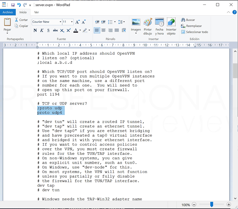 Crear VPN con OpenVPN en Windows paso17