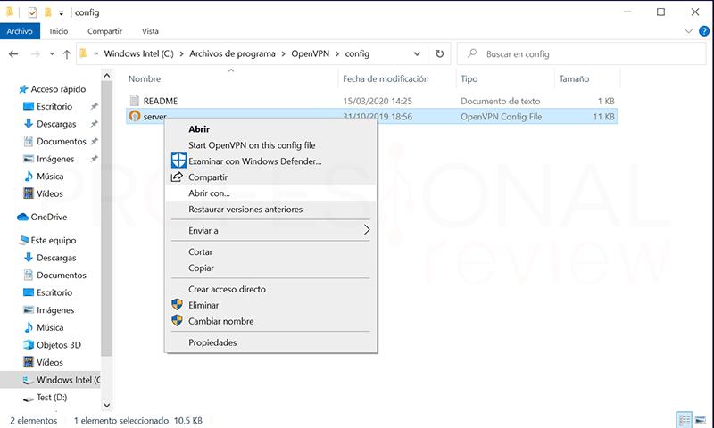 Crear VPN con OpenVPN en Windows paso16