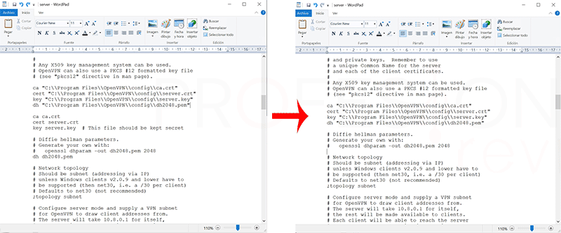 Crear VPN con OpenVPN en Windows paso19