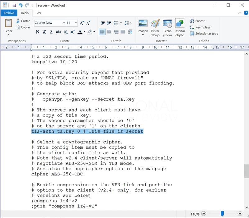 Crear VPN con OpenVPN en Windows paso22