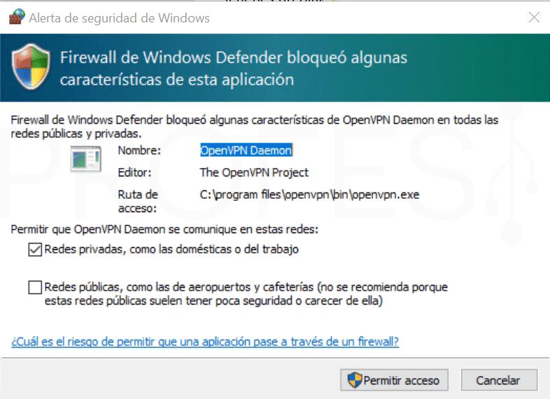 Crear VPN con OpenVPN en Windows paso26