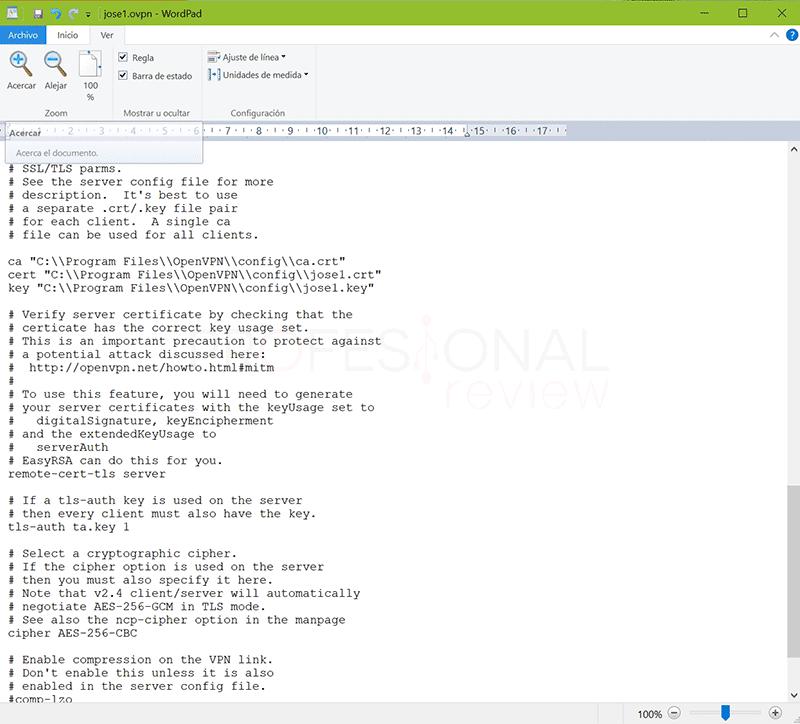 Crear VPN con OpenVPN en Windows paso36