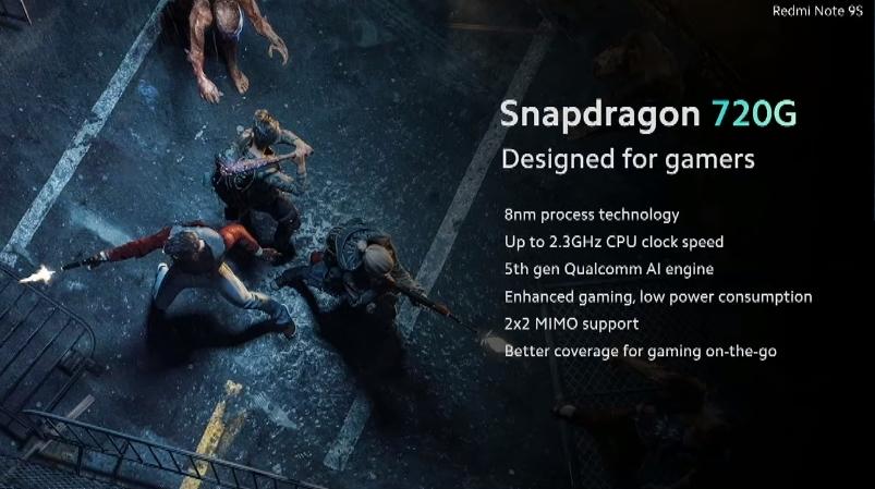 Xiaomi Redmi Note 9S snapdragon
