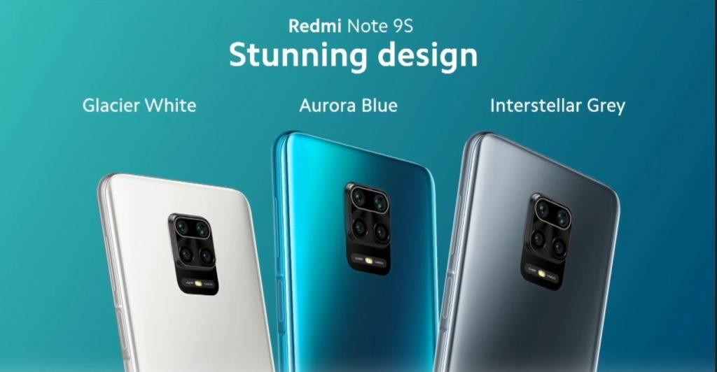 colores Redmi Note 9S