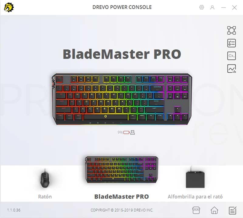 Drevo BladeMaster PRO Software
