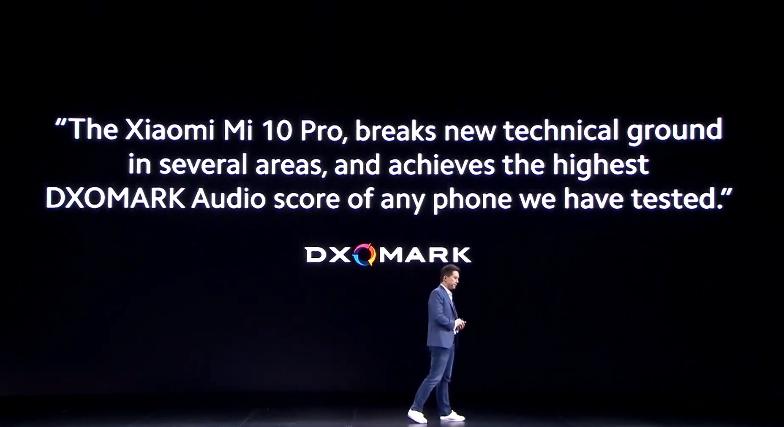 dxomark sonido Xiaomi mi 10 pro