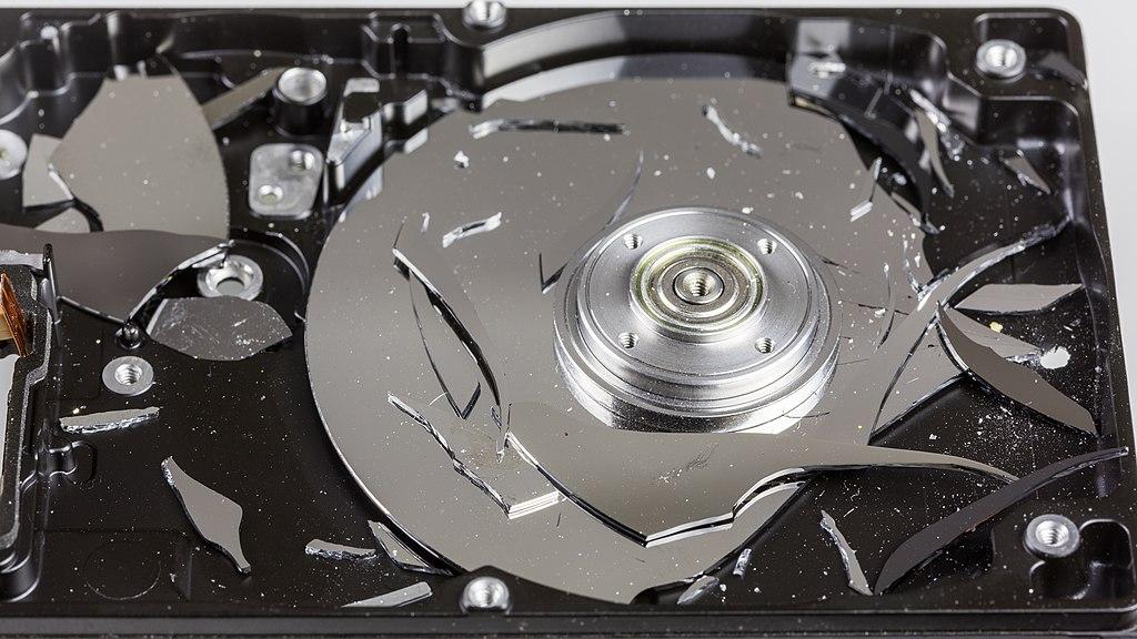 erores disco duro dañado