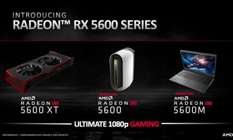Photo of Radeon RX 5600M 6 GB supera a Radeon Pro 5600M en Geekbench 5