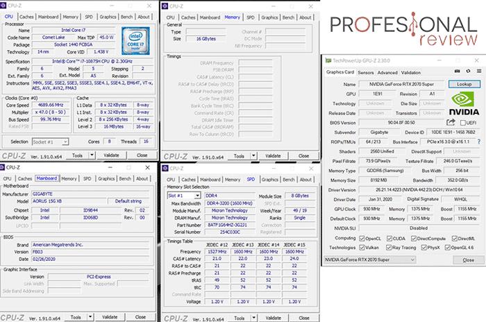 AORUS 15G XB CPU-Z