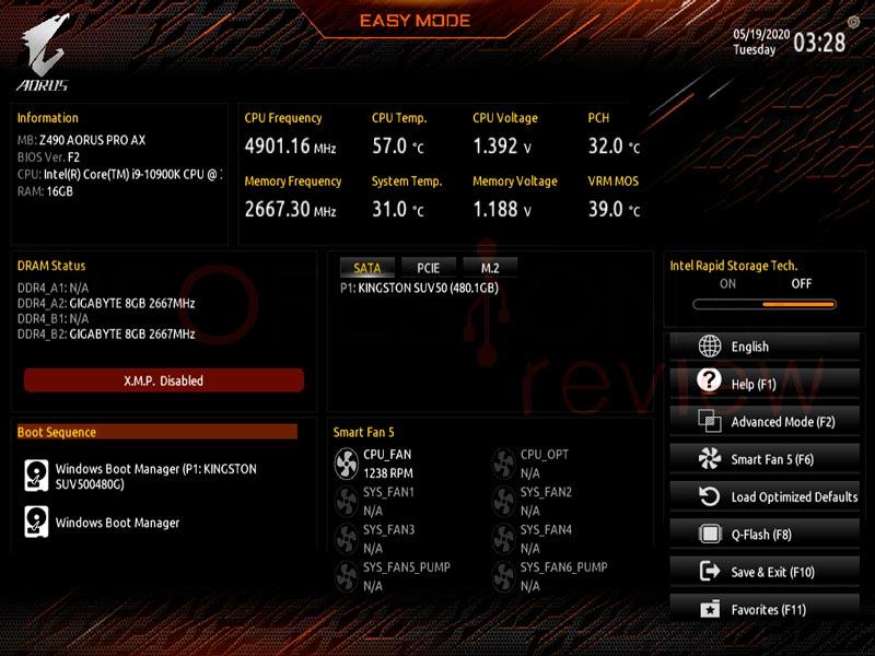 AORUS Z490 Pro AX BIOS
