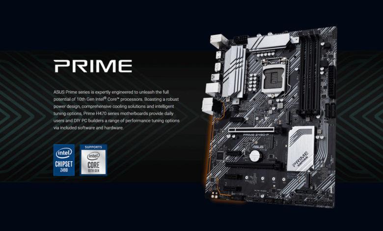 Photo of ASUS PRIME Z490-P y Z490-A para Intel Comet Lake se filtran en la red